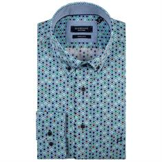 Giordano overhemd Regular Fit 91-6023 in het Groen
