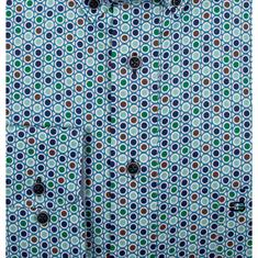 Giordano overhemd Regular Fit 91-6023 in het Groen