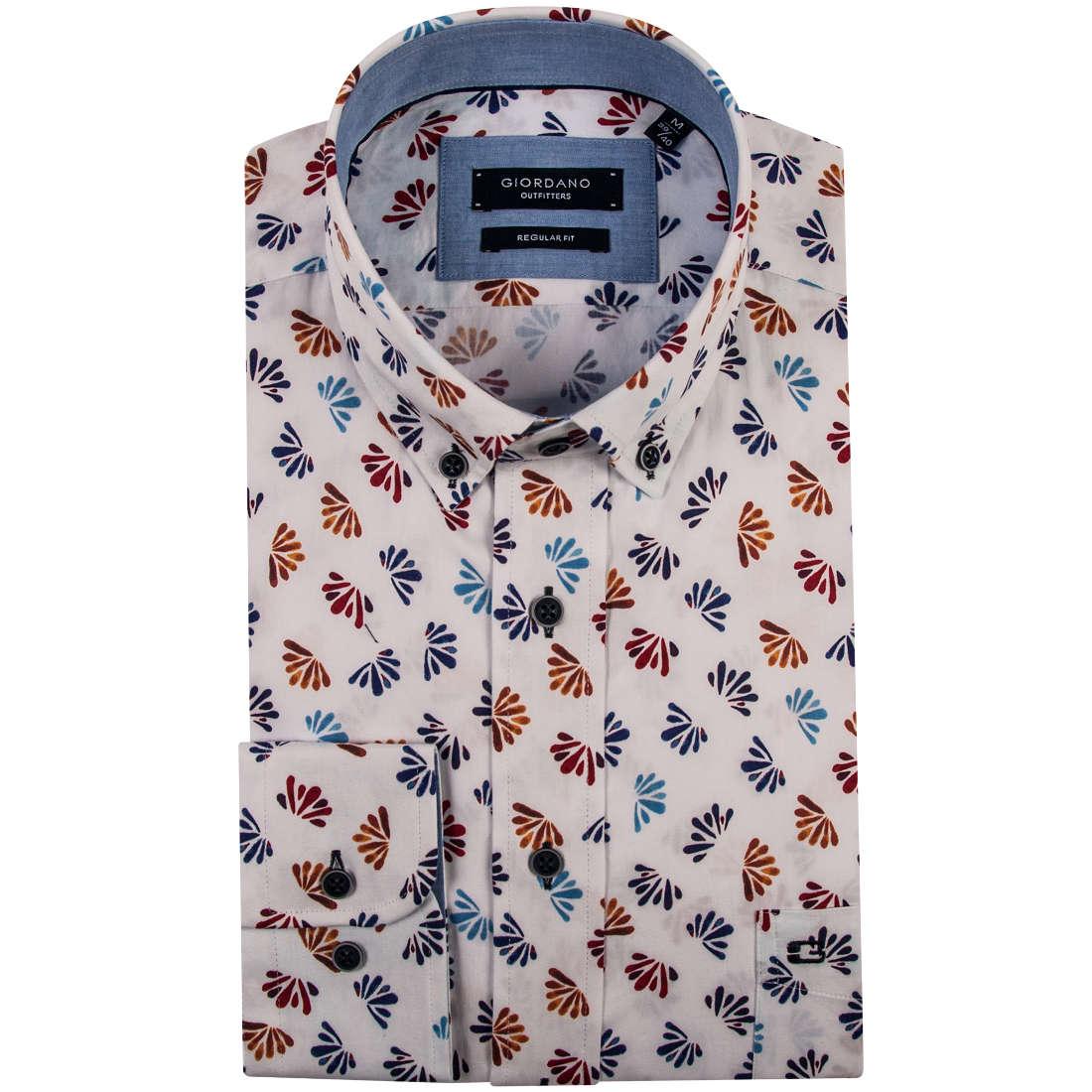 Giordano overhemd Regular Fit 91-6024 in het Wit