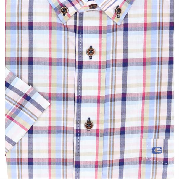 Giordano overhemd Regular Fit 91-6307 in het Licht Blauw