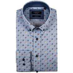 Giordano overhemd Regular Fit 91-7017 in het Licht Blauw
