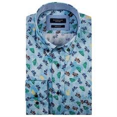 Giordano overhemd Regular Fit 91-7024 in het Licht Blauw