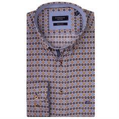 Giordano overhemd Regular Fit 927014 in het Oker
