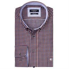 Giordano overhemd Regular Fit 927022 in het Roest