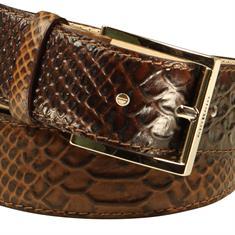 Giorgio riem 1023-anaconda in het Camel