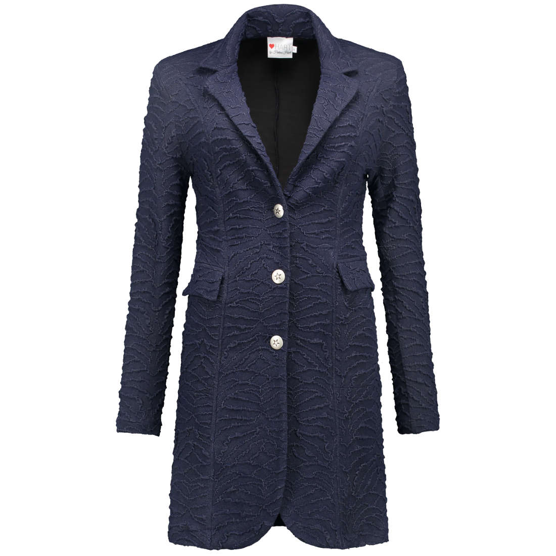 Helena Hart blazer 7039-tuxy-crunch in het Denim