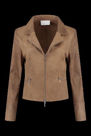 Helena Hart blazer 7288 zipper in het Camel
