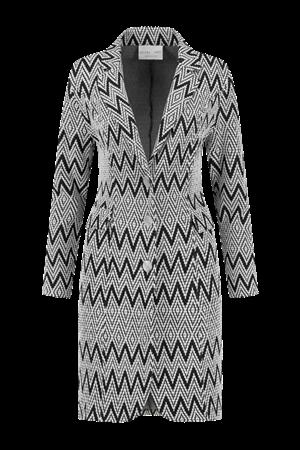Helena Hart blazer 7329 tuxy zigzag in het Wit/Zwart