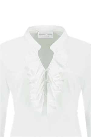 Helena Hart blouse 7257 blouse ruche in het Wit