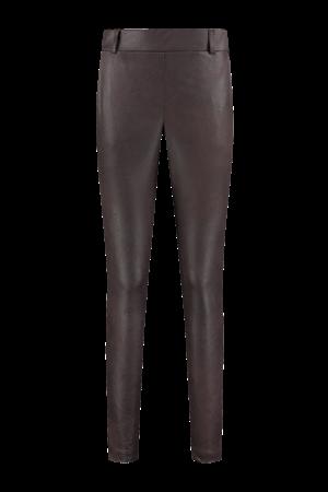 Helena Hart pantalons Slim Fit 7211 chinomix in het Donker Bruin