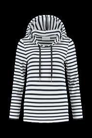 Helena Hart sweater 7360 hoodie breto in het Wit/Blauw