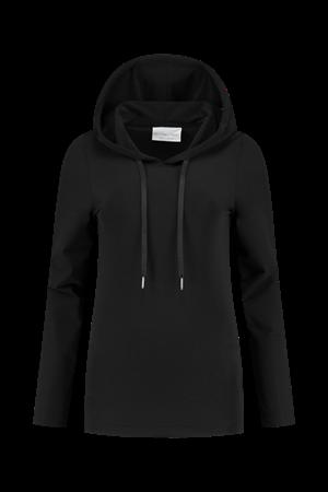 Helena Hart sweater 7361 hoodie trans in het Zwart