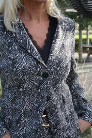 Helena Hart tops 7256-top lacy in het Zwart