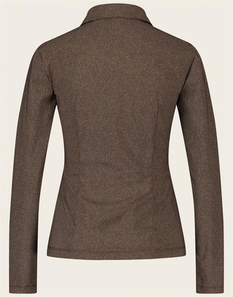 Jane Lushka blouse URK7211100 in het Bruin