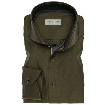 John Miller business overhemd 5135727 in het Donker Groen