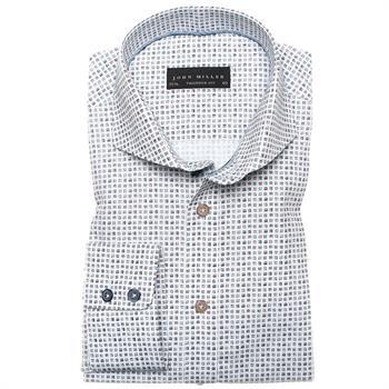 John Miller business overhemd Tailored Fit 5135388 in het Donker Bruin