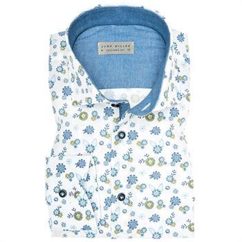 John Miller business overhemd Tailored Fit 5136190 in het Groen