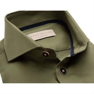 John Miller business overhemd Tailored Fit 5136415 in het Groen