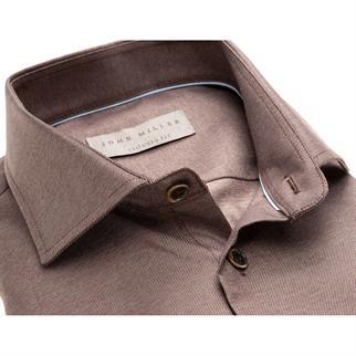 John Miller business overhemd Tailored Fit 5136488 in het Bruin