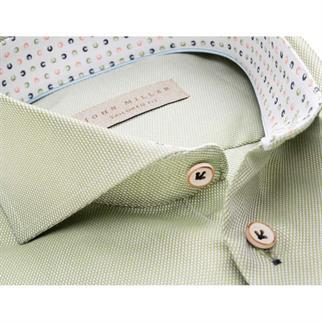 John Miller business overhemd Tailored Fit 5136875 in het Licht Groen