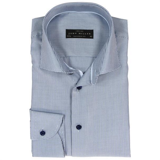 John Miller overhemd 5800732 in het Licht Blauw