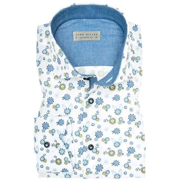 John Miller overhemd Tailored Fit 5136190 in het Groen