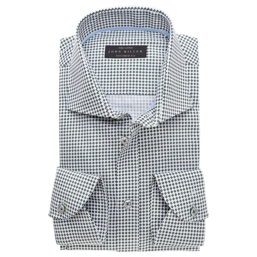 Tailored Fit Overhemd.John Miller Overhemd Tailored Fit 5136358 In Het Donker Groen