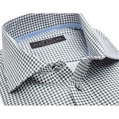 John Miller overhemd Tailored Fit 5136358 in het Donker Groen