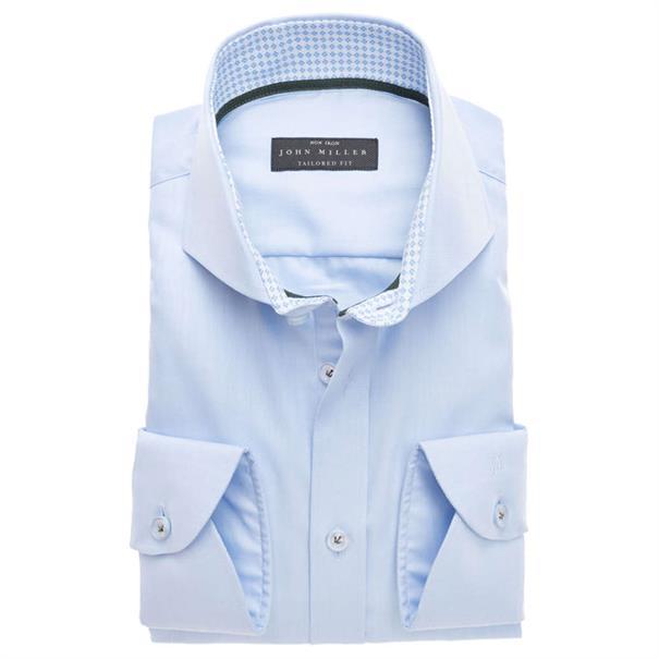 John Miller overhemd Tailored Fit 5136373 in het Licht Blauw