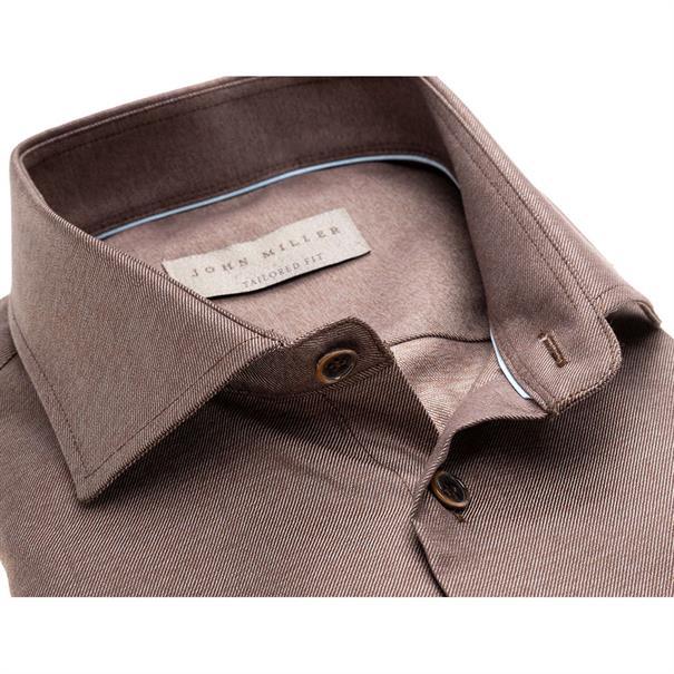 John Miller overhemd Tailored Fit 5136488 in het Bruin