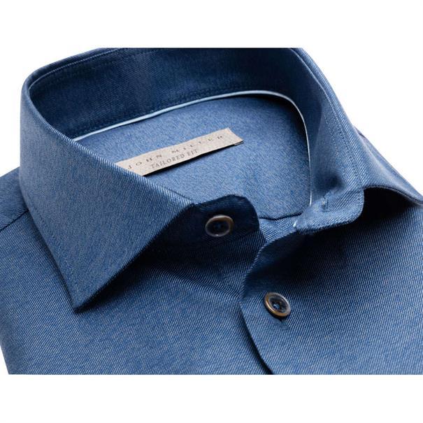 John Miller overhemd Tailored Fit 5136488 in het Donker Blauw
