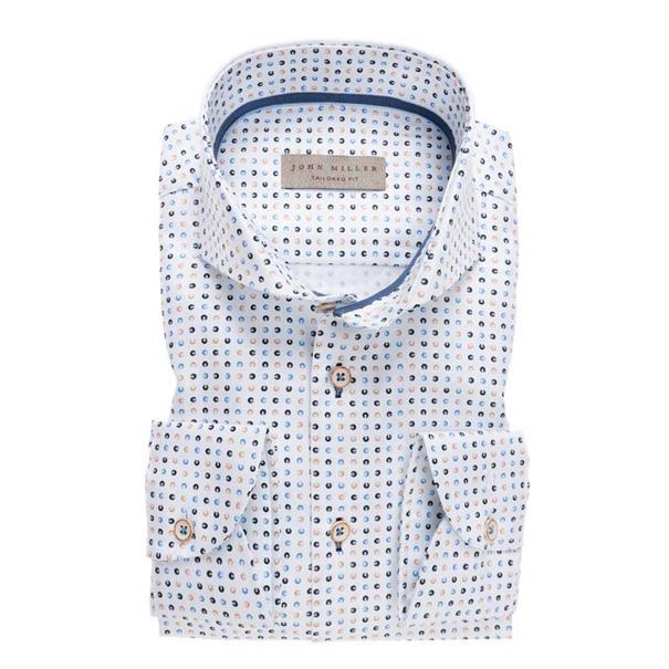 John Miller overhemd Tailored Fit 5136882 in het Blauw