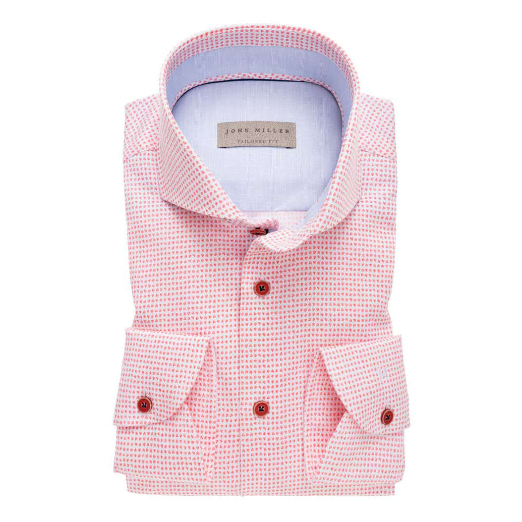 Roze Overhemd.John Miller Overhemd Tailored Fit 5136893 In Het Roze