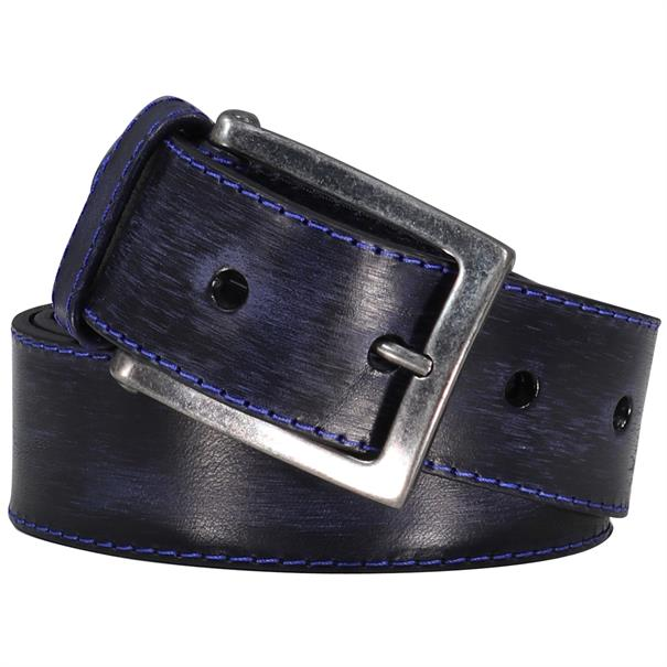 JPLC Pulles Leather Company riem 7232p in het Donker Blauw