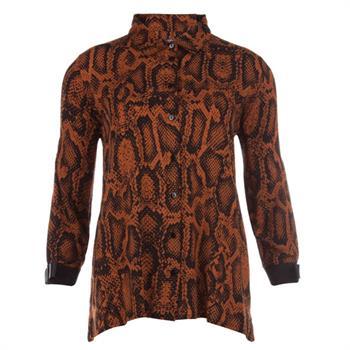Juffrouw Jansen blouse bregt-w19 in het Camel