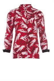 Juffrouw Jansen blouse pong-s20 in het Rood