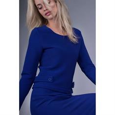 Juffrouw Jansen blouse rib152 in het Kobalt