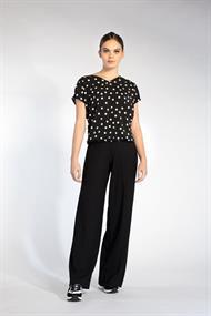 Juffrouw Jansen blouse suus-s20 in het Zwart / Wit