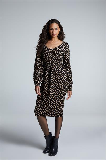 Juffrouw Jansen jurk ada in het Zwart / Beige
