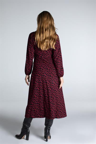 Juffrouw Jansen jurk aida in het Zwart / Rood