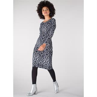 Juffrouw Jansen jurk aliek-w19 in het Zwart / Wit