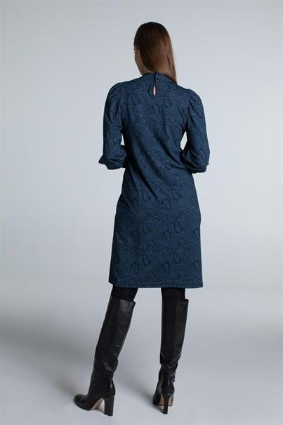 Juffrouw Jansen jurk bella in het Nacht Blauw