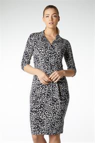 Juffrouw Jansen jurk cherry in het Zwart / Beige