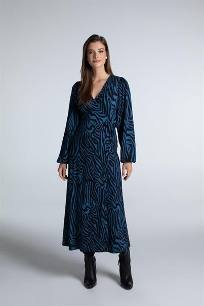 Juffrouw Jansen jurk ellen in het Nacht Blauw