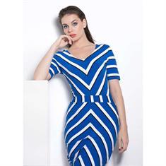 Juffrouw Jansen jurk febe-f19 in het Kobalt