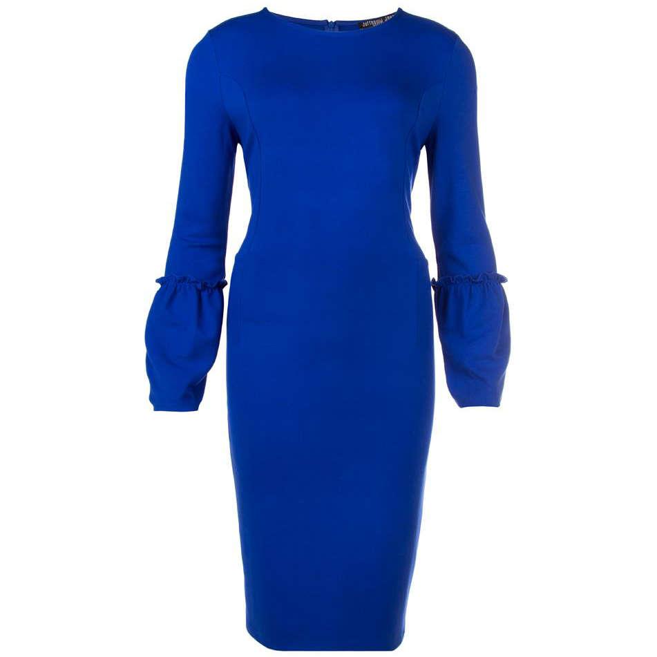 Image of Juffrouw Jansen jurk nicol-w18 in het Kobalt