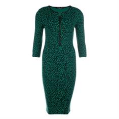 Juffrouw Jansen jurk pella-w19 in het Groen