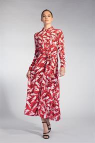 Juffrouw Jansen jurk poppy-s20 in het Rood