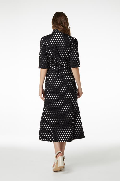 Juffrouw Jansen jurk sara in het Zwart / Wit