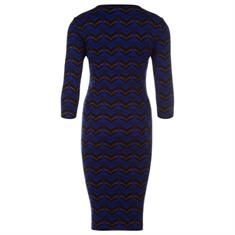 Juffrouw Jansen jurk ushi-w19 in het Kobalt